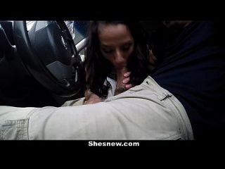 Shesnew - Cute Brunette Nicki Ortega Fucks Bf In Driveway