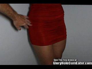 Hottie Slut Sucking Off Boners In Glory Hole