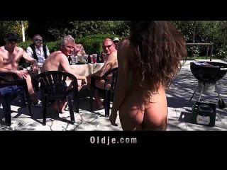 8 Lucky Old Men Gang Bang Anita