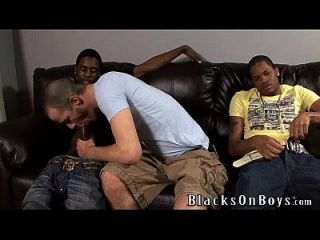 Brenden Shaw Tries Interracial Sex With Two Black Guys