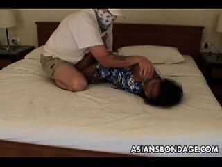 Bandit Tickling Asian Babes Feet As Shes Tied Up