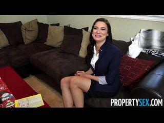 Propertysex - Busty Real Estate Agent Works Hard For Holiday Xmas Bonus