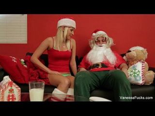 Vanessa Cage Is Naughty Santa