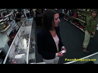 Cheeky Shop Owner Bangs Customer