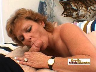 Mature Lady Works A Big Fat Cock And Gets A Facial Cumshot