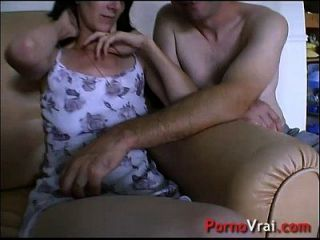 Taken By Surprise, She Squirts All Over The Couch! French Amateur