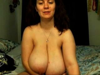 Slender Milf Sucks On Her Lactating L Cup Tits