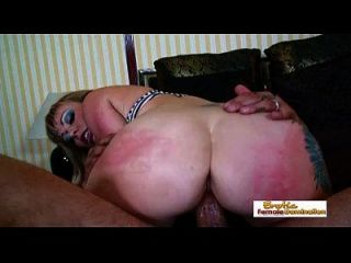 Gorgeous Busty Mommy Gets An Anal Annihilation And Loves It