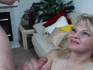 Hot Blonde Drains Cum Straight Into Her Mouth And Swallows