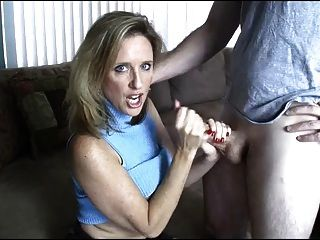 handjob mom son