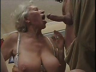 Lady boss with big round boobs getting anal pleasures