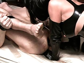German Mistress Fuck Her Slave