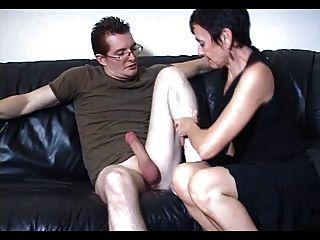Mum Marie Makes His Big Cock Cum