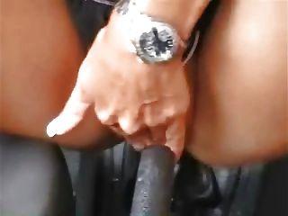 German Girl Masturbation With Car