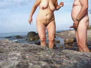 Mature Couple Sex On The Beach-wear-tweed
