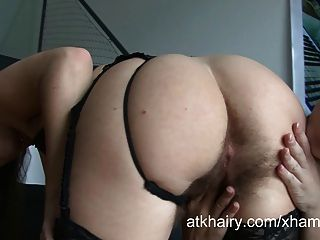 Two Hairy Lesbians Petra And Eden Show Off Their Pussies