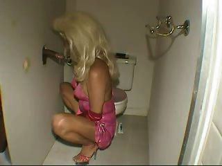 Crossdresser At The Glory Hole