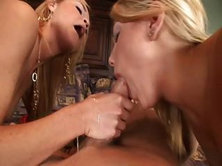 Young Blondes Eat Pussy Then Share Cock & Cum