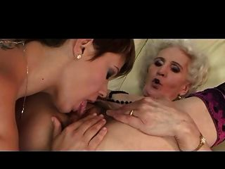 Granny And Her Girlfriend Have A Good Lick
