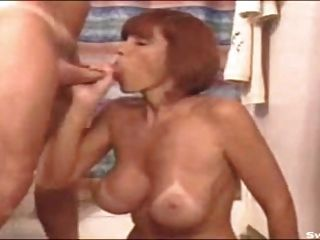 Great Milf With Nice Tits Sucking.