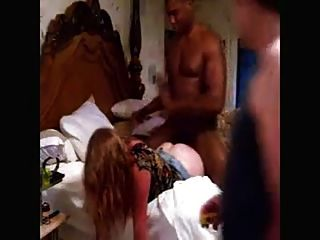 White Wife With Bbc On Bed, Hubby Records