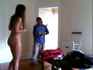 Naked Girl Delivery Guy 2