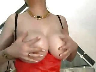 Hairy Granny With Big Tits In Stockings Fucked