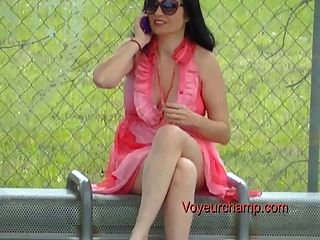 Exhibitionist Wife#44-bus Stop Flashing Russian Milf Tatiana