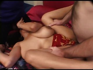 Indian Girl Having Fun With Two Cocks !