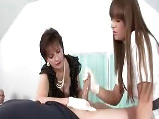Gloved hand job audition