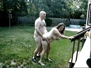 Mature Couple Fuck Outdoors