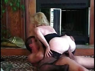 Granny Rides Younger Man By Troc