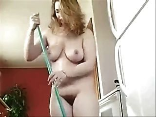 House housewife cleaning
