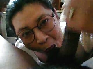Four-eyed Cocksucker Taking Big Load From Big Black Cock