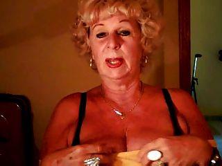 Granny Andrea Shows Her Juicy Tits