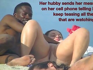 Exhibitionist Wife Betty Sucks Black Cock Off The Nude Beach