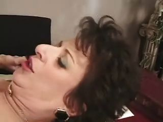 Mature Milf In White Fishnets Fucks