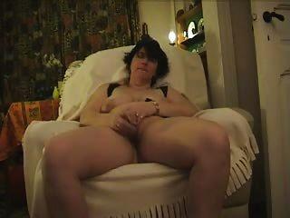 Mature Monica Masturbates With Glass Dildo And Cums