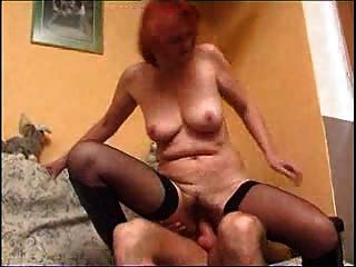 Redhead Mature And Younger Man M27