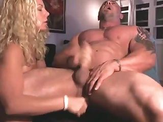 Wife Fucks The Cum Out Of Husband With Dildo