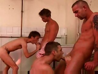 Awesome Gay 4 Some Fuck Scene Big Cocks In Public Toliet