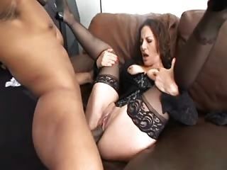 Shemale video and nylons and garter