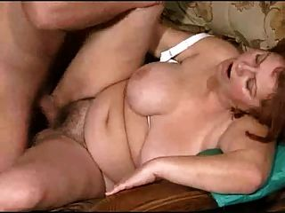 Mamy With Big Tits Fuck With Young