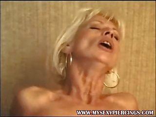 Pierced French Milf Anal Sex