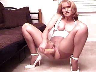 Slutty Sammi Pantyhose Dildo Masturbation Show St69