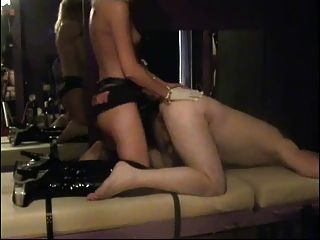 Mistress Strap-on Fucks Male In Dungeon
