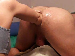 Something Shoulder deep anal
