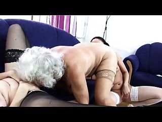 Granny Norma Lesbian Love Threesome Again