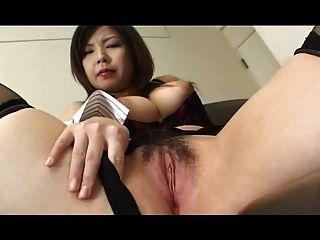 Hairy Asian Masturbation