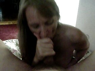 Wife Rides Then Facial